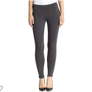 Keena D Faux Leather & Ponte Knit Leggings, XS